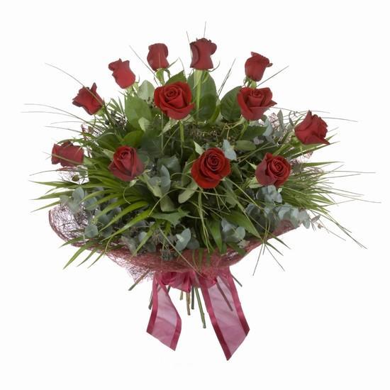 Etkileyici buket 11 adet kirmizi gül buketi  Elazığ İnternetten çiçek siparişi