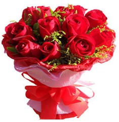 9 adet kirmizi güllerden kipkirmizi buket  Elazığ çiçek gönderme sitemiz güvenlidir