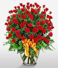 Görsel vazo içerisinde 101 adet gül  Elazığ çiçek satışı