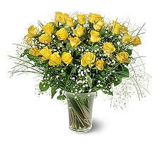 Elazığ çiçek yolla , çiçek gönder , çiçekçi   15 adet sarigül mika yada cam vazoda