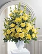 Elazığ çiçek yolla , çiçek gönder , çiçekçi   sari güllerden sebboy tanzim çiçek siparisi
