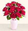 Elazığ yurtiçi ve yurtdışı çiçek siparişi  10 kirmizi gül cam yada mika vazo tanzim