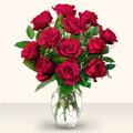 Elazığ hediye sevgilime hediye çiçek  10 adet gül cam yada mika vazo da