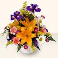 Elazığ hediye çiçek yolla  sepet içinde karisik çiçekler