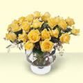 Elazığ çiçek servisi , çiçekçi adresleri  11 adet sari gül cam yada mika vazo içinde