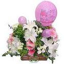 balon ve çiçeklerle tanzim  Elazığ İnternetten çiçek siparişi