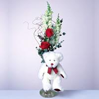 2 adet gül ve panda özel  Elazığ online çiçekçi , çiçek siparişi