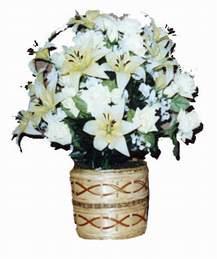 yapay karisik çiçek sepeti   Elazığ internetten çiçek siparişi