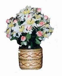 yapay karisik çiçek sepeti   Elazığ çiçekçiler