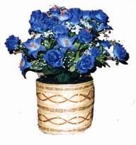 yapay mavi çiçek sepeti  Elazığ çiçek , çiçekçi , çiçekçilik