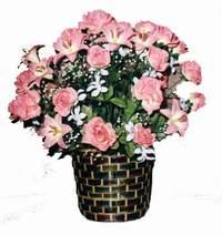 yapay karisik çiçek sepeti  Elazığ internetten çiçek satışı