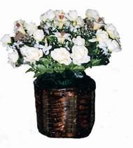 yapay karisik çiçek sepeti   Elazığ çiçek satışı