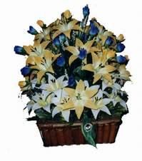 yapay karisik çiçek sepeti   Elazığ çiçek online çiçek siparişi