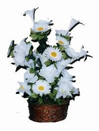 yapay karisik çiçek sepeti  Elazığ çiçek gönderme