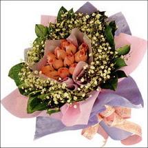 11  adet  gül ve   elyaflar   Elazığ online çiçekçi , çiçek siparişi