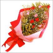 12 adet renkli  gül buketi   Elazığ online çiçekçi , çiçek siparişi