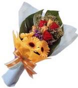 güller ve gerbera çiçekleri   Elazığ anneler günü çiçek yolla