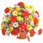 karisik renkli çiçek sepet   Elazığ anneler günü çiçek yolla