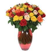 51 adet gül ve kaliteli vazo   Elazığ anneler günü çiçek yolla