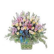 sepette kazablanka ve güller   Elazığ çiçek online çiçek siparişi