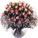 büyük cam fanusta güller   Elazığ hediye sevgilime hediye çiçek