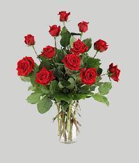 Elazığ çiçek , çiçekçi , çiçekçilik  11 adet kirmizi gül vazo halinde