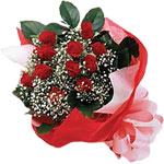 Elazığ İnternetten çiçek siparişi  KIRMIZI AMBALAJ BUKETINDE 12 ADET GÜL
