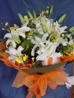 Elazığ İnternetten çiçek siparişi  5 ADET KAZABLANKA BUKETI KALITEDEN SASMAYANLARA