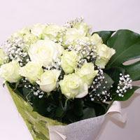 Elazığ yurtiçi ve yurtdışı çiçek siparişi  11 adet sade beyaz gül buketi