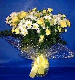Elazığ yurtiçi ve yurtdışı çiçek siparişi  sade mevsim demeti buketi sade ve özel