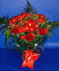 Elazığ yurtiçi ve yurtdışı çiçek siparişi  3 adet kirmizi gül ve kir çiçekleri buketi