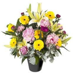 karisik mevsim çiçeklerinden vazo tanzimi  Elazığ ucuz çiçek gönder
