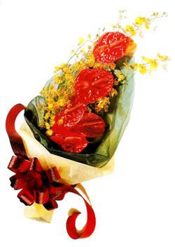 özel 5 adet antorium buketi   Elazığ anneler günü çiçek yolla
