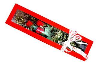 Elazığ yurtiçi ve yurtdışı çiçek siparişi  Kutuda 3 adet gül