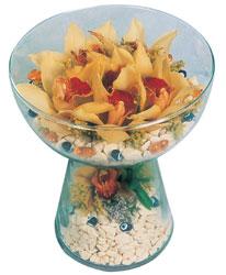 Elazığ çiçek yolla , çiçek gönder , çiçekçi   Cam içerisinde 4 adet kandil orkide