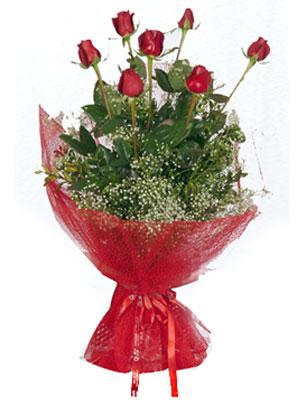 Elazığ çiçekçiler  7 adet gülden buket görsel sik sadelik