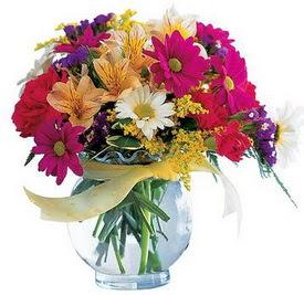 Elazığ İnternetten çiçek siparişi  cam yada mika içerisinde karisik mevsim çiçekleri