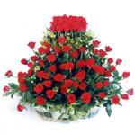 Elazığ çiçek siparişi vermek  41 adet kirmizi gülden sepet tanzimi