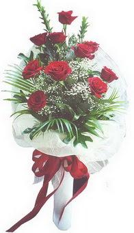 Elazığ yurtiçi ve yurtdışı çiçek siparişi  10 adet kirmizi gülden buket tanzimi özel anlara