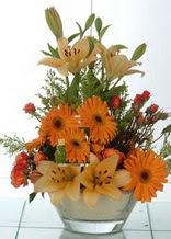 Elazığ çiçekçiler  cam yada mika vazo içinde karisik mevsim çiçekleri