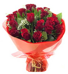 Elazığ çiçekçi mağazası  11 adet kimizi gülün ihtisami buket modeli