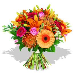 Elazığ çiçek servisi , çiçekçi adresleri  Karisik kir çiçeklerinden görsel demet