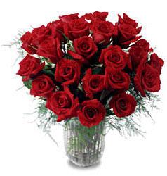 Elazığ anneler günü çiçek yolla  11 adet kirmizi gül cam yada mika vazo içerisinde