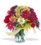 Elazığ kaliteli taze ve ucuz çiçekler  cam yada mika vazo içerisinde karisik kir çiçekleri