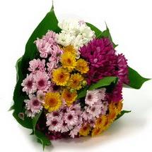 Elazığ çiçek servisi , çiçekçi adresleri  Karisik kir çiçekleri demeti herkeze