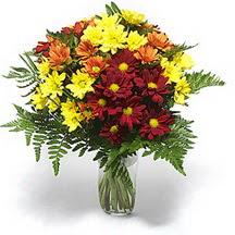 Elazığ çiçek yolla , çiçek gönder , çiçekçi   Karisik çiçeklerden mevsim vazosu