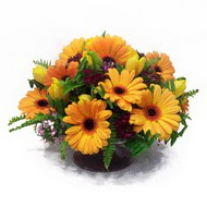 gerbera ve kir çiçek masa aranjmani  Elazığ çiçek gönderme