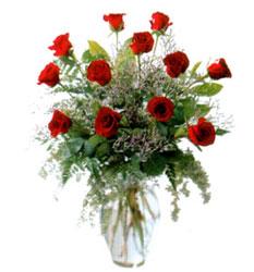 Vazo içerisinde 11 kirmizi gül  Elazığ çiçek gönderme
