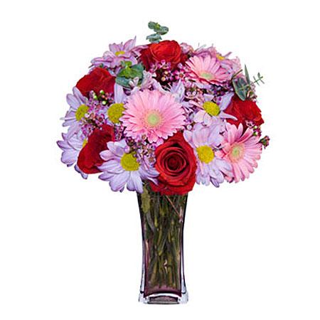 Görsel hediye karisik cam mevsim demeti  Elazığ online çiçekçi , çiçek siparişi