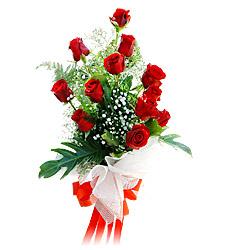 11 adet kirmizi güllerden görsel sölen buket  Elazığ çiçek gönderme